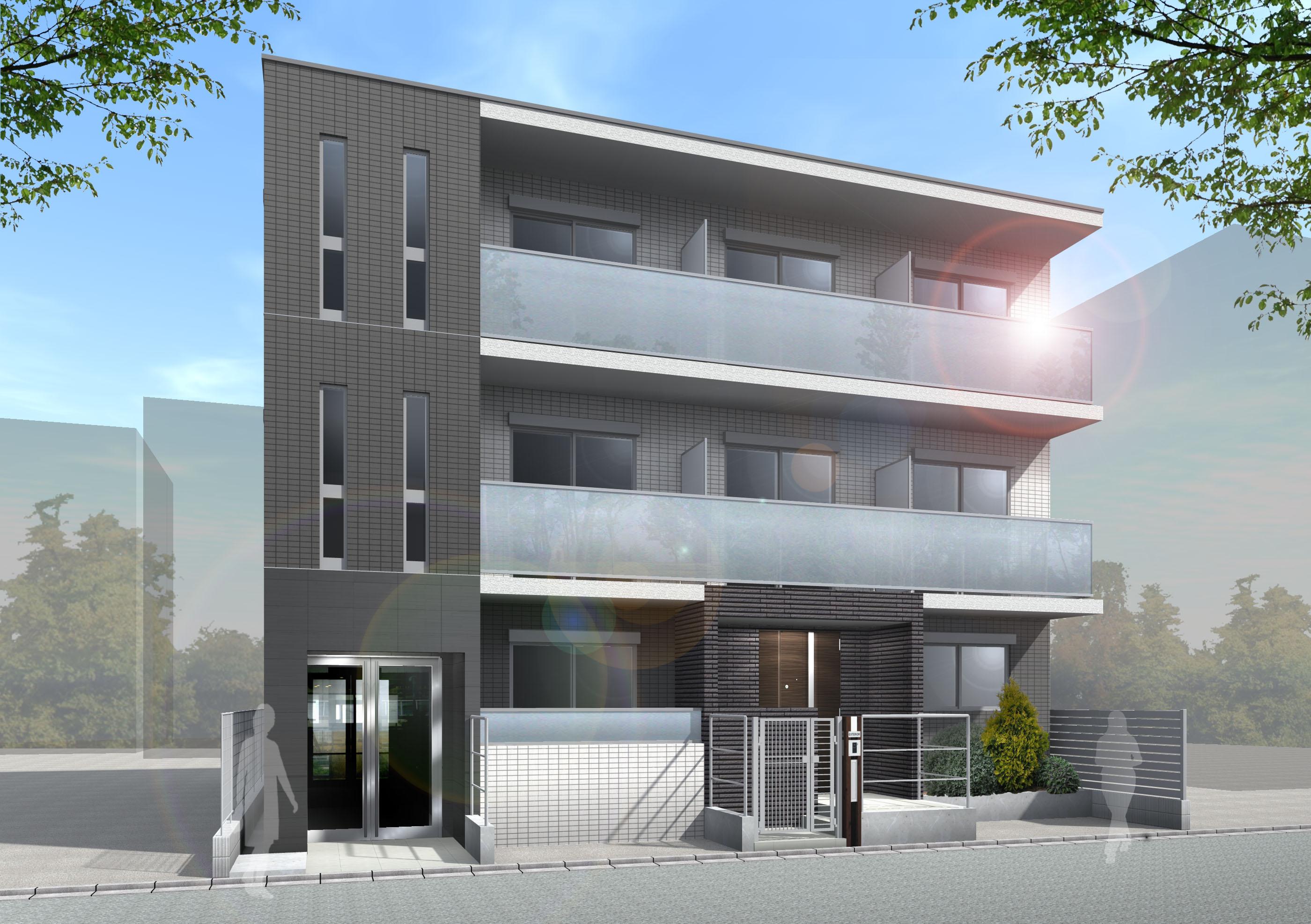 自宅併用賃貸マンションの完成見学会